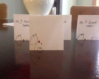 Birds Place Cards