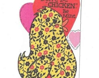 Vintage Chicken Valentine Card