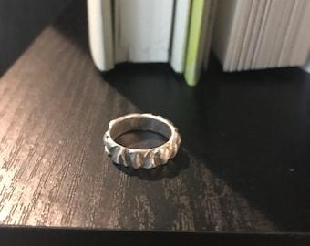 Mountain Facet Stacker Ring