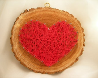 Valentine String Art, Raw wood
