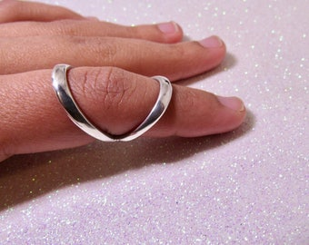 Ring Splint Wide Band in  Sterling Silver • Splint Ring for Fingertip Arthritis • RA Dip Splint • By Evabelle