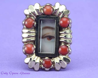 Georgian Lover's Eye / Mourning Brooch / Lovers Eye / Lover's Eye / Lovers Eye Brooch / Memento Mori - NOT a reproduction