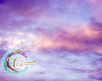 Purple Swirl Sky overlay