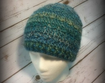 Messy Bun Hat, Ponytail Hat, Top Knot Hat, Skiing Hat, Ski Hat, Hat with Hole, Bun Hat, Trendy Messy Bun Hat, Hat for Bun,Beanie,Tidal Wave