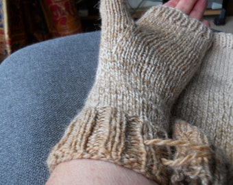 ladies tweed fingerless gloves