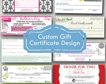 Gift Certificate Design / Custom / Digital