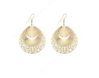 handmade tear drop layered gold or silver earrings latest fashion earrings shell dangle earrings