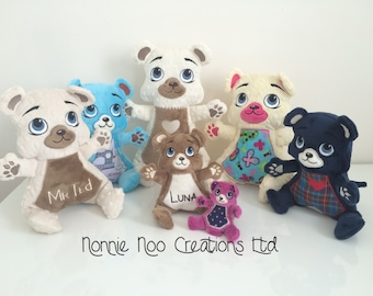 Mr Ted and Family - Machine Embroidery ITH - 4x4, 5x7, 6x10, 7x12 and 8x14 hoop - Vp3. Vip, Pes, Hus, Exp,  DST,  XXX & Jef formats.