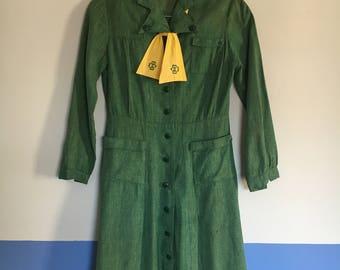 Vintage 1940s Girl Scout Uniform