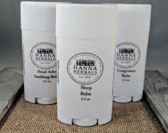 Wellness Trio - Sleep Stick - Headache Blend - Congestion Blend - Essential Oil Blends - Hanna Herbals - Winter Wellness Kit