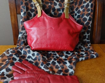 Vintage, Red Leather Purse