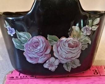 Small black basket trinket made in Japan