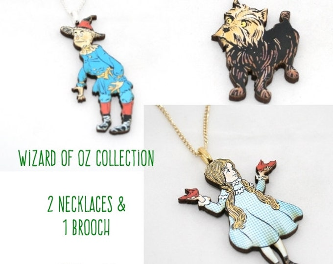 Wizard of Oz Collection - 2 Necklaces & 1 Brooch