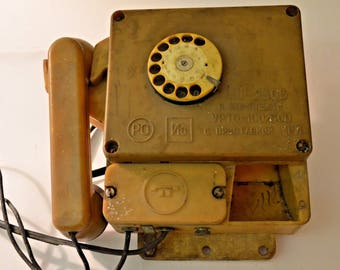 vintage 1983 Russian rotary phone used in mining in USSR explosion protected Rotary Telephone