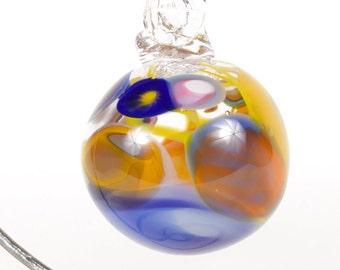 110275 Medium Hand Blown Hanging Art Glass Ball Decorative Ornament