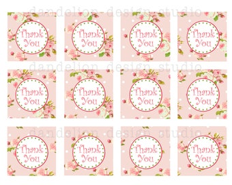 PRINTABLE Favor Tags - Bright Shabby Chic Party Collection - Dandelion Design Studio