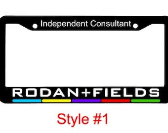 Rodan and Fields Car License Plate Frame, R + F Car Decal, Rodan & Fields, RF Decal, R+F Decal, R+F