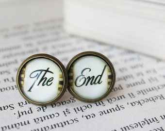 The End Stud Earrings - Mismatch Earrings - Movie Film Earrings - Film Jewelry - Film Stud Earrings - Gift for Actor -  Gift for director