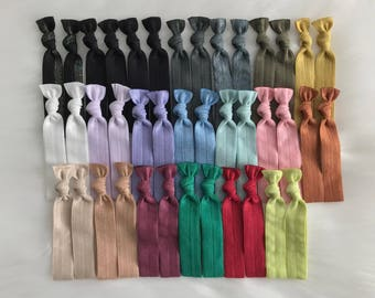 Bulk of 40 no crease hair ties elastic ponytails topknot holder yoga hair ties