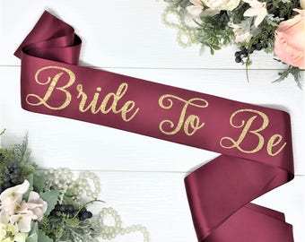 "3"" Satin Bachelorette Sash - Bachelorette Party - Bride To Be Sash -  Bridal Shower - Gift For Bride - SELECT COLORS"