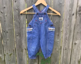 Denim Train Overalls - 24 M
