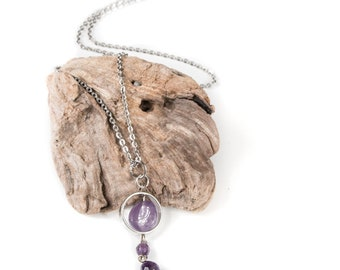 Driftwood Amethyst chain necklace