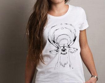 Handmade Silkscreen Kromakò DEER T-shirt