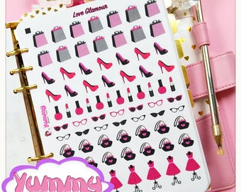 2 Sheets Love Glamour Stickers