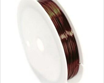 0,4mm copper wire / coil 10 m Brown