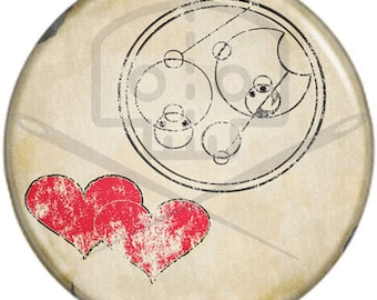 Doctor Who- Inspired I LOVE YOU in Gallifreyan button