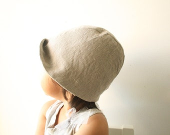 LINEN HAT summer hat / girl / boy / children / toddler hat / modern / beanie / linen cloche / eco friendly / made in australia / pamelatang