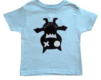 Keep Austin Weird! - We Love Texas! - Hanging Bat Light Blue Kids T-Shirt