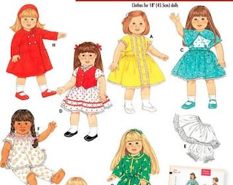 "Simplicity Archives sewing pattern 4347 Doll Clothing, 18"" Doll Clothes - new and uncut"