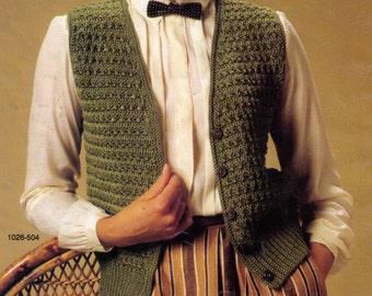 PDF - Women Vest Crochet Pattern  Sizes 8-18 Instant Download