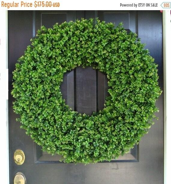 SUMMER WREATH SALE Outdoor Door Wreath All Seasons Artificial Boxwood Wreath, Xxl Front Door Decor