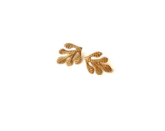 Fig Leaf Post Earrings