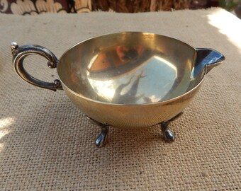 Footed Benedict Silver Creamer  ~  Benedict Made in U.S.A.  ~  E.P.N.S.B.M.M. 1973  ~  Benedict Creamer  ~  Benedict Footed Creamer