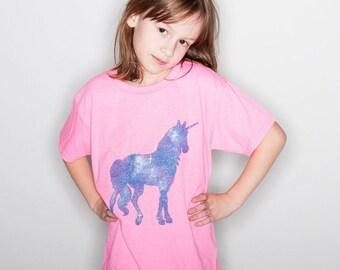 Girl's Unicorn Tshirt Little Girls Unicorn Shirt Youth Clothing Kid's Unicorn Tshirt « G500Bazalea «« (crew, tee) «