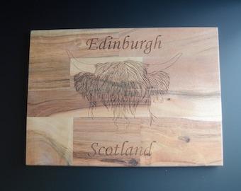 Edinburgh Hairy Coo Chopping Board Scotland cutting board kitchen