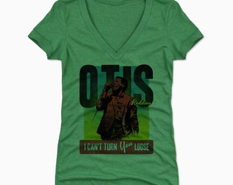 Otis Redding Women's Shirt | Soul Music | Women's V-Neck | Otis Redding Retro R