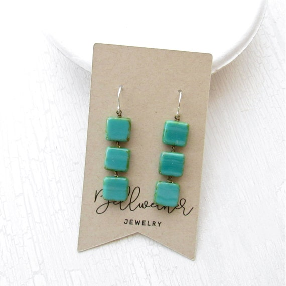 WHOLESALE LISTING // Stacked Earrings > Turquoise // EST