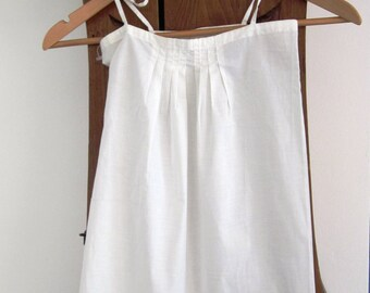 For girl in ivory white summer dress