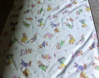 Vintage Avon Easter Bunny Tablecloth (95 by 58 inches)