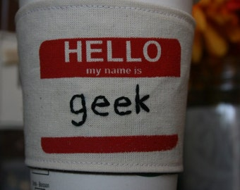 Geeky cup cozy