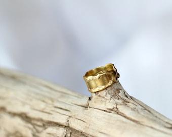 Melted Brass Ring Smooth Molten Brass
