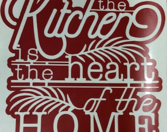 Home Is Where The Heart Is - Wall Art Vinyl Decal - Many Colors and Sizes Available - Easy to Apply and Remove - No Residue