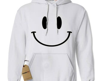 Big Smile Face Fun Emoticon Adult Hoodie Sweatshirt
