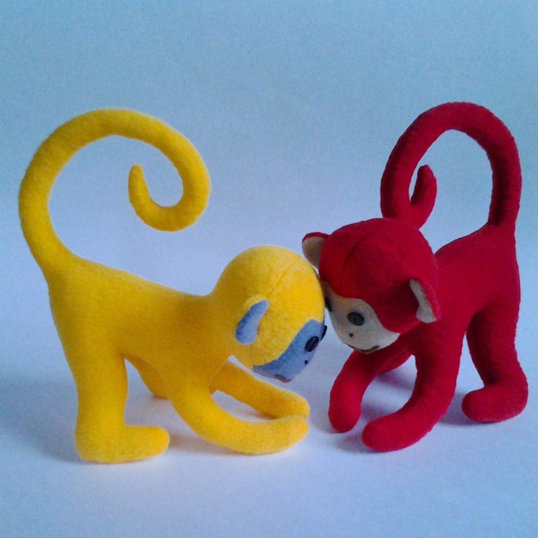 Baby monkey pattern soft toy pattern and tutorial stuffed zoom jeuxipadfo Choice Image