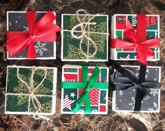Christmas Tile Drink Coaster