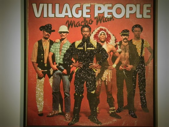 Glittered Record Album - Village People - Macho Man